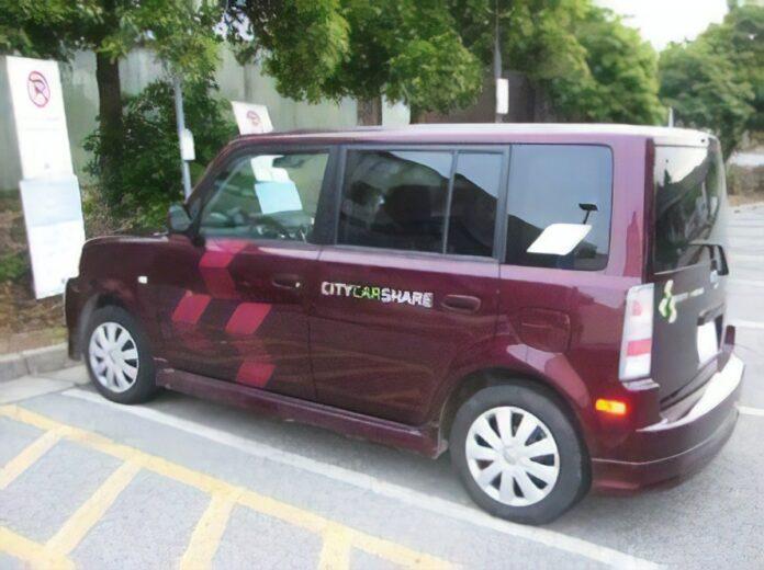 A City CarShare car