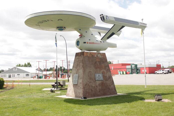 Enterprise monument in Vulcan, Alberta