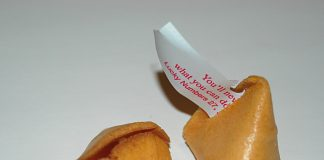 A fortune cookie