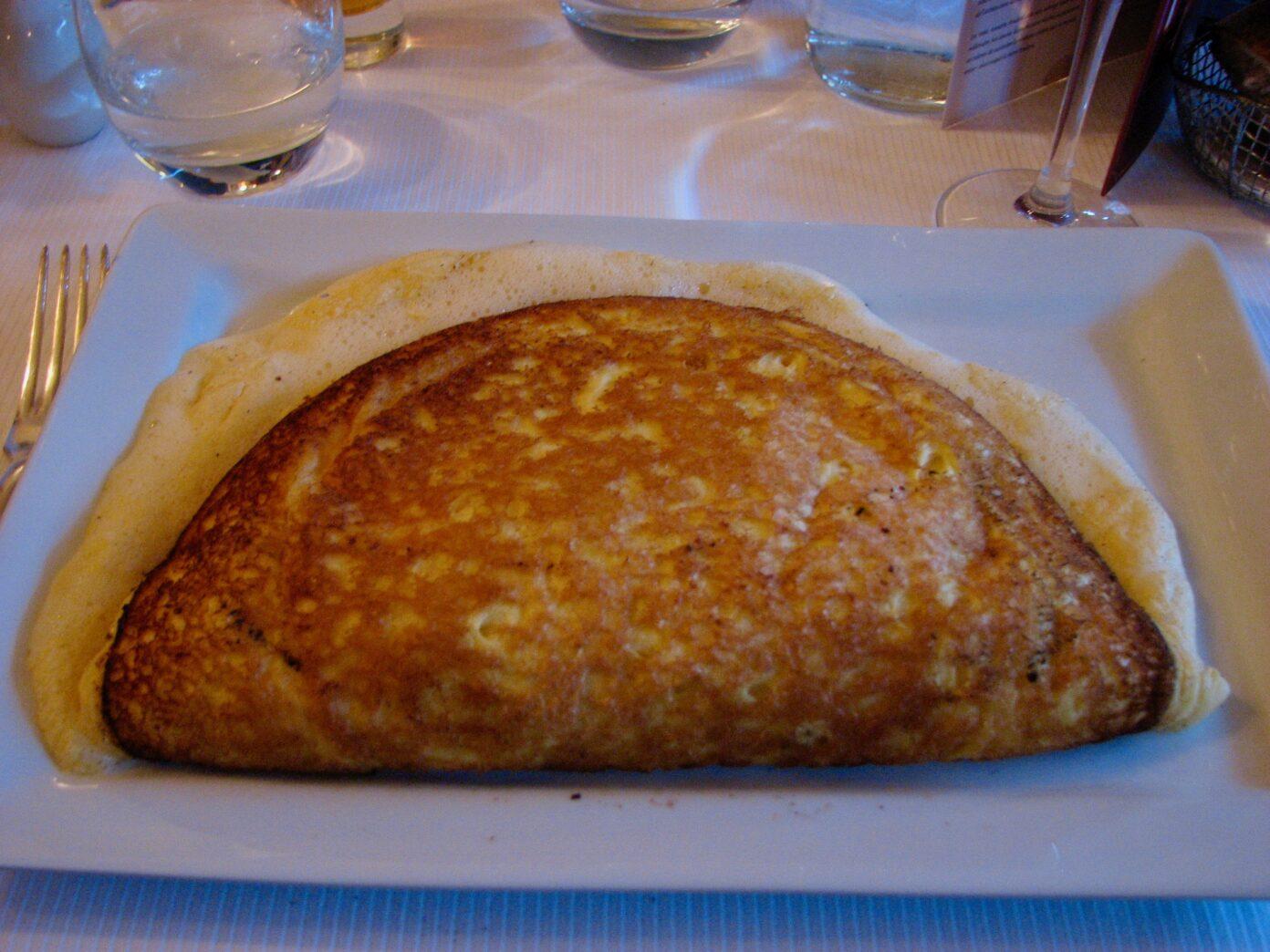 An omelet at La Mère Poulard