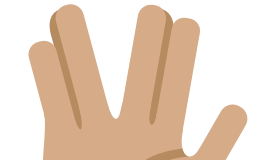 Vulcan hand gesture for Live Long and Prosper