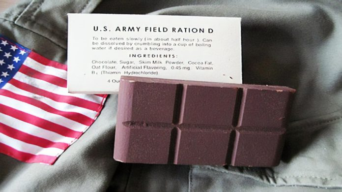 U.S. Army Field Ration D chocolate bar
