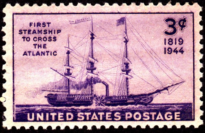 U.S. postage stamp depicting the steamship Savannah