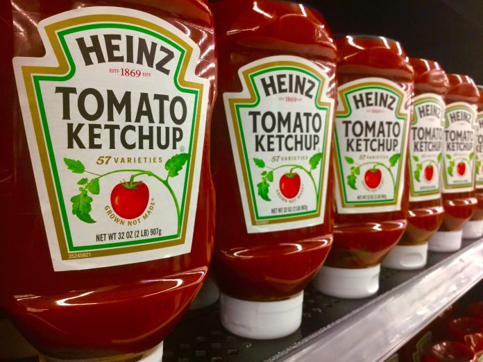 Bottles of Heinz ketchup