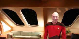 Captain Picard in his quarters