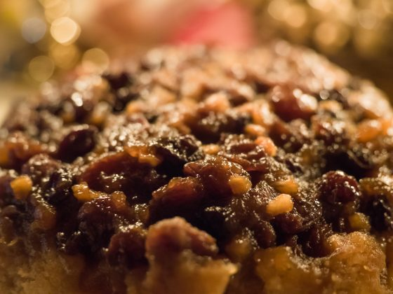 Mincemeat steamed sponge pudding