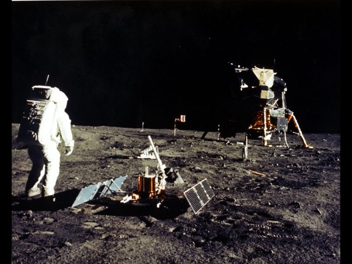 A Walk on the Moon During Apollo 11