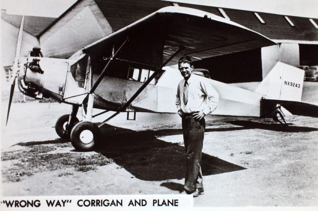 Douglas Corrigan and his plane