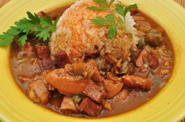 Chicken gumbo with Andouille sausage
