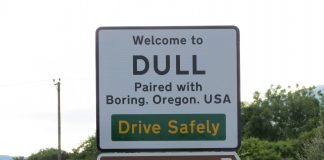Welcome to Dull sign