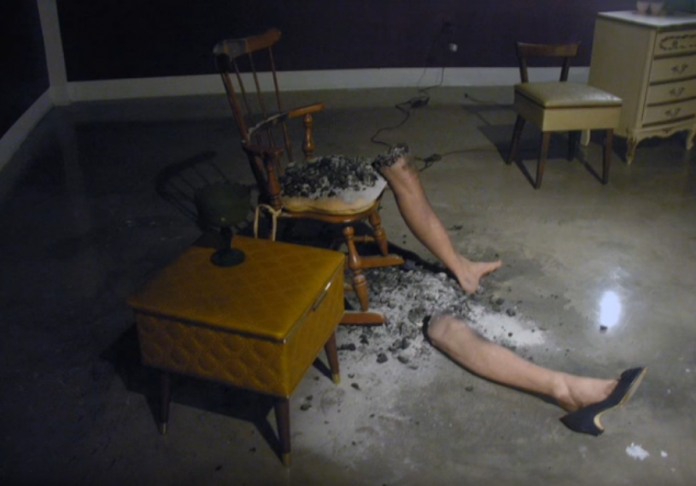A recreation of spontaneous human combustion