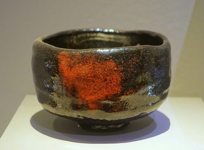 A raku chawan (tea bowl)
