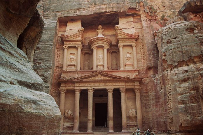 A temple in Petra, Jordan