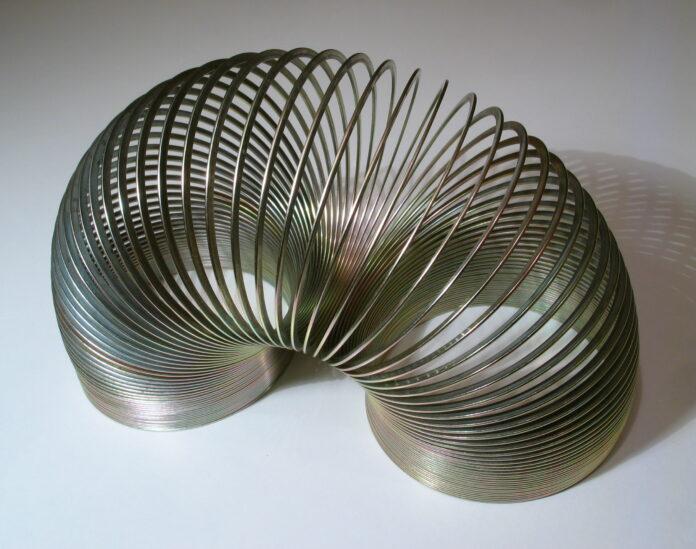 A metal Slinky
