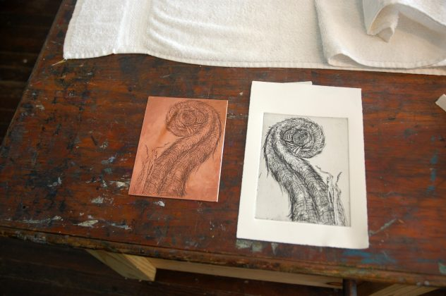 An intaglio plate and print