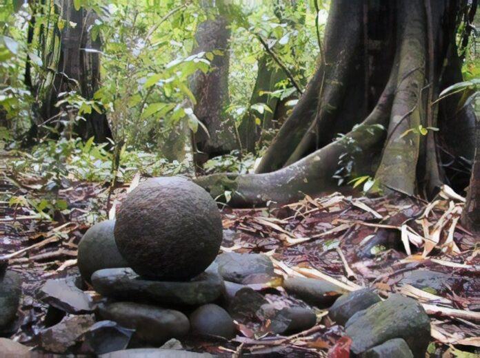 A stone ball in Costa Rica