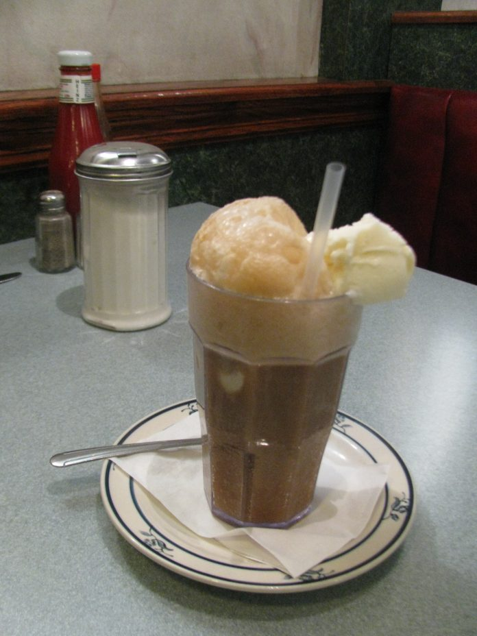 A root beer float