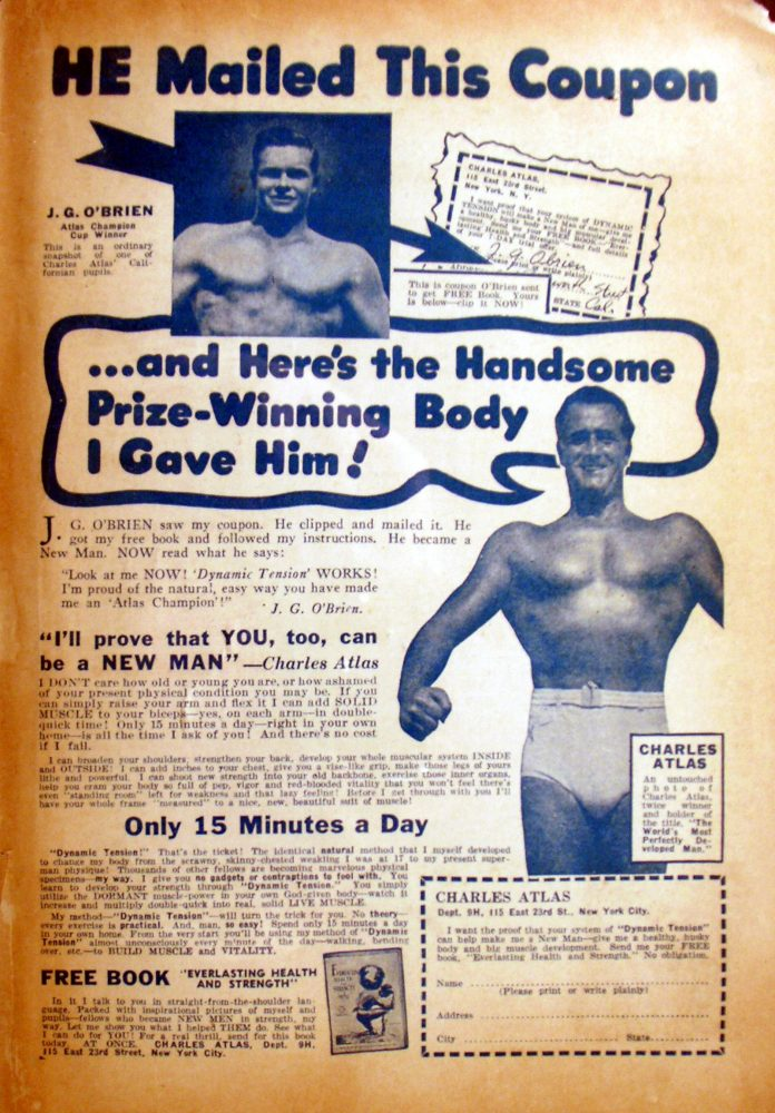 A Charles Atlas ad
