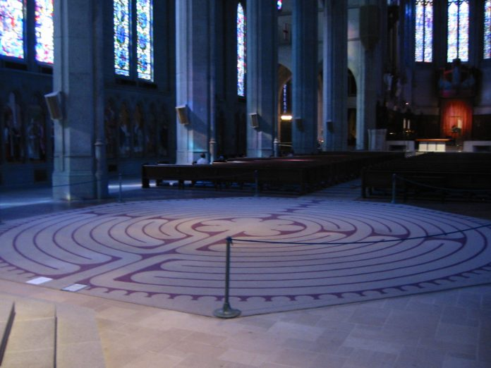 An indoor labyrinth