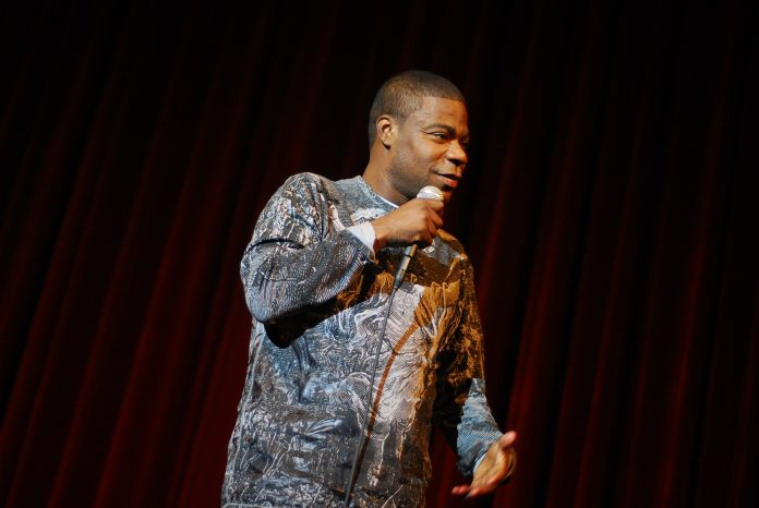 Comedian Tracy Morgan doing a standup routine