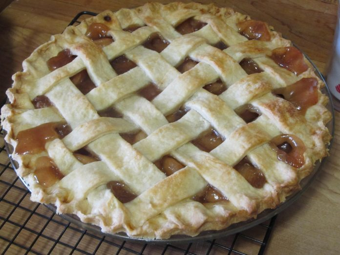 A homemade apple pie
