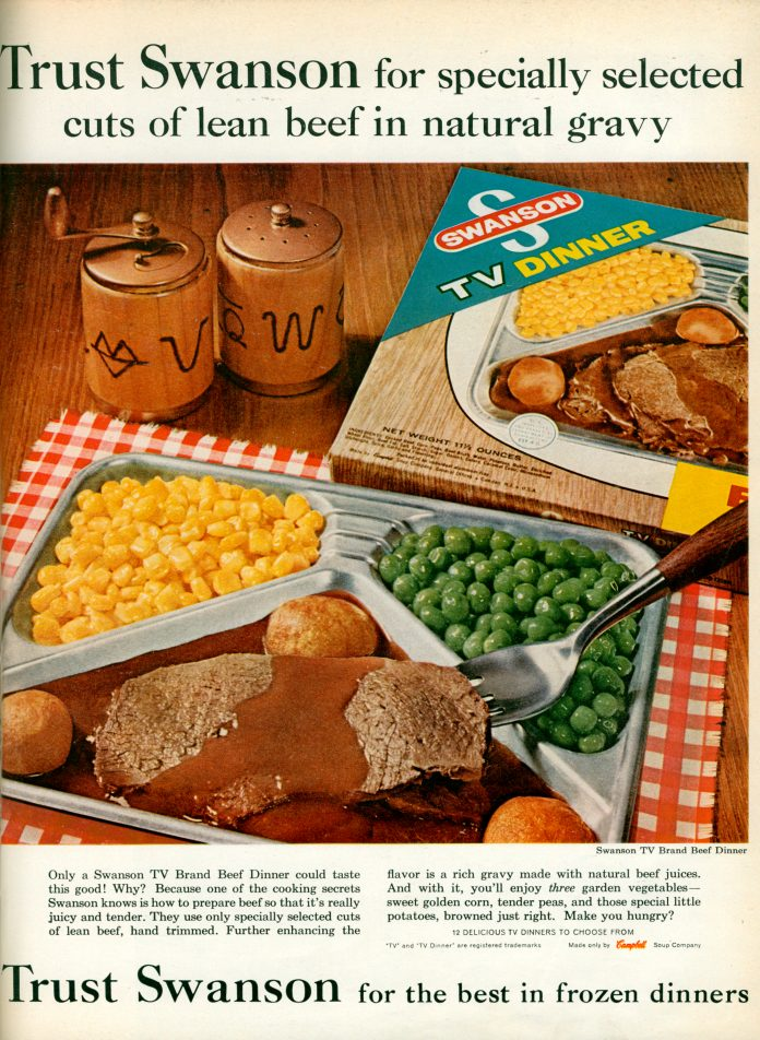 A TV dinner ad
