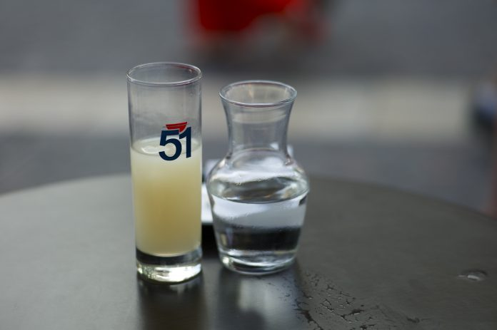 A glass of pastis