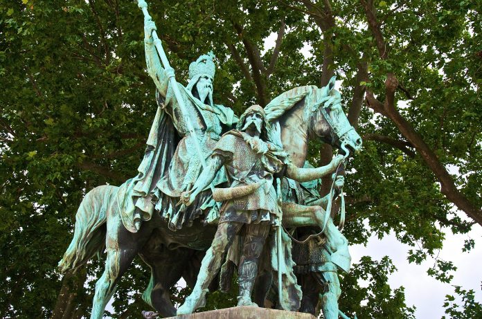A statue of Charlemagne