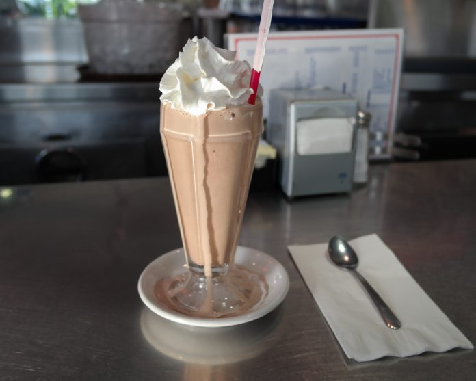 A chocolate milkshake