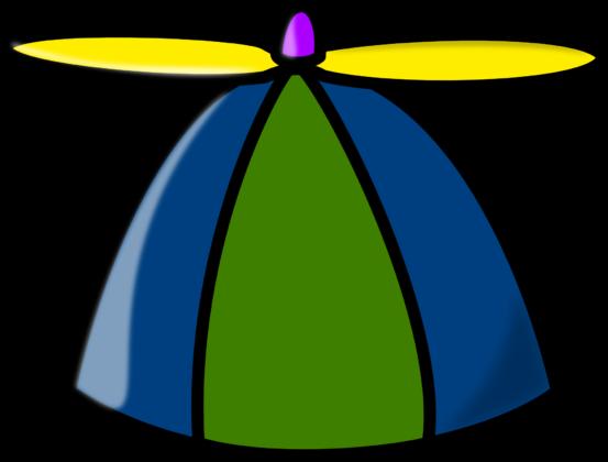 A propeller beanie