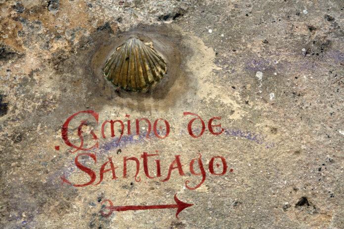 Indicador de Camino de Santiago