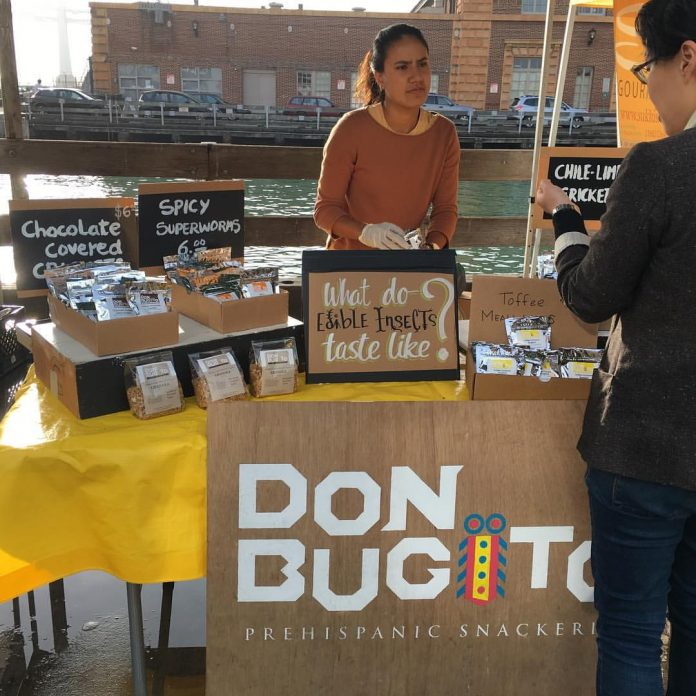 A stand selling edible insects