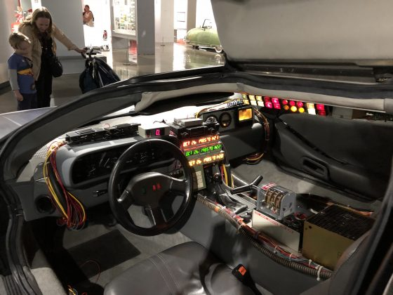 Interior of a time machine