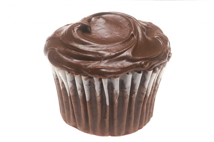 A chocolate cupcake