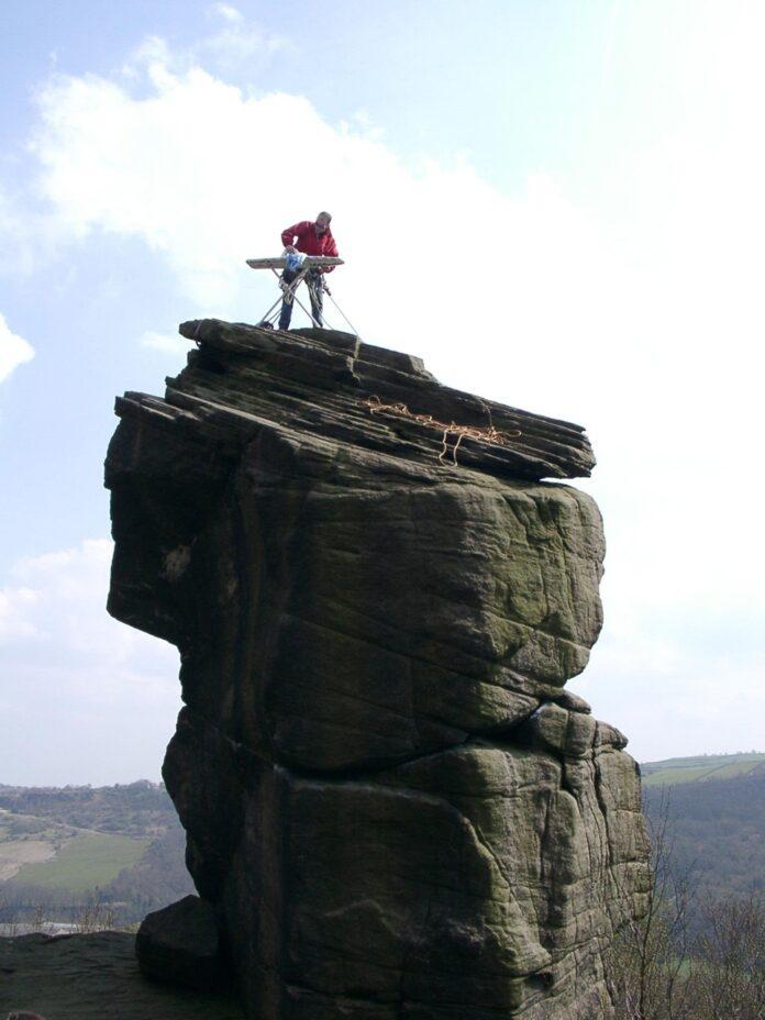 Extreme Ironing on Rivelin Needle, Sheffield, UK