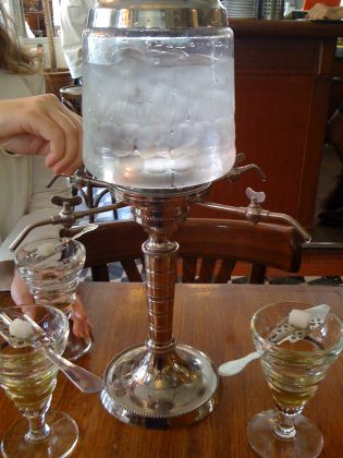 A traditional preparation of absinthe