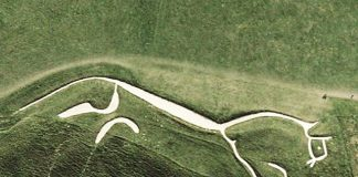 Uffington White Horse (aerial view)