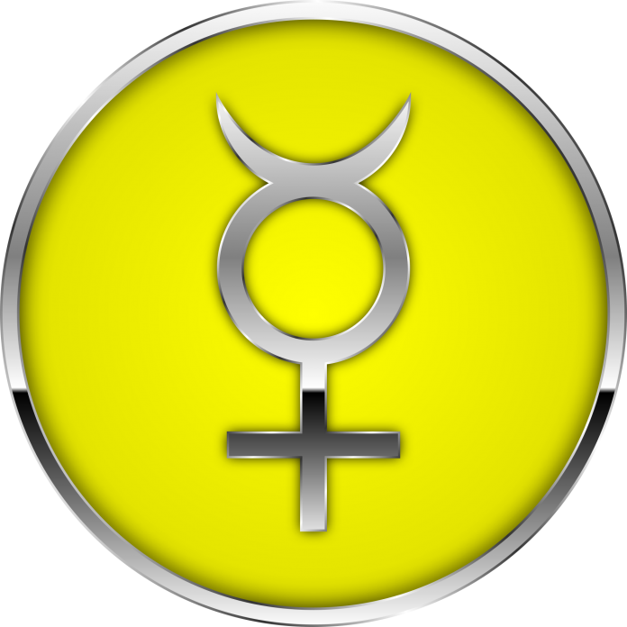 Astrological symbol for Mercury