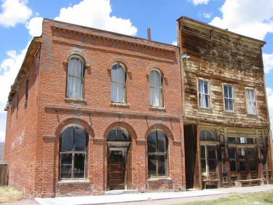 Two buildings in Bodie, California