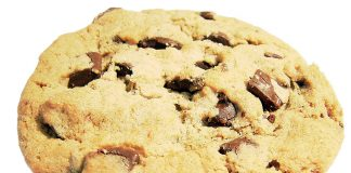 A chocolate chip cookie