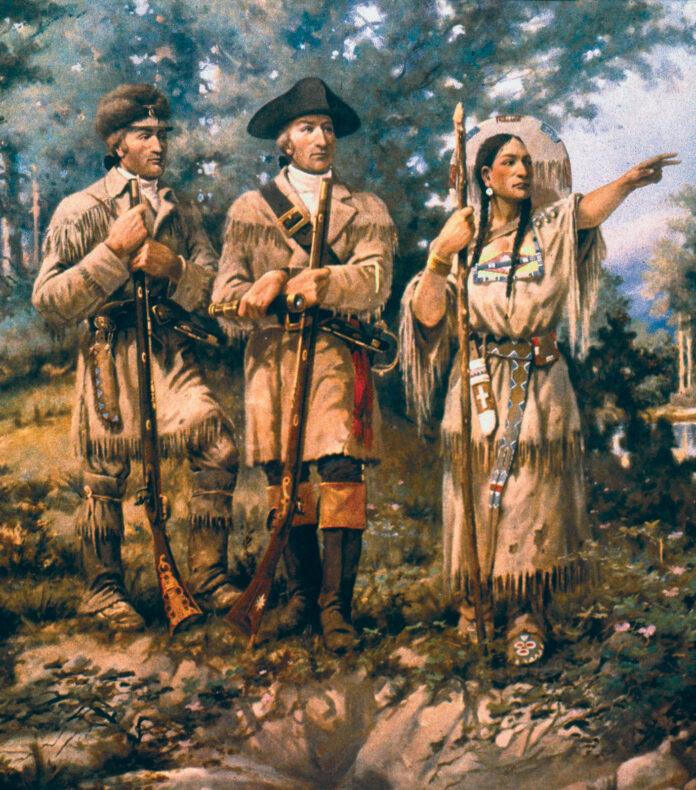 Sacagawea with Lewis & Clark