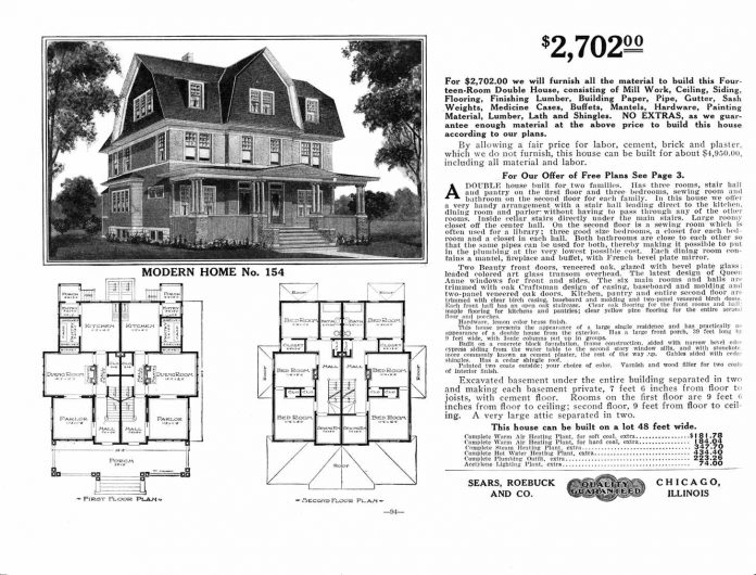 Catalog page for a Sears Modern Home