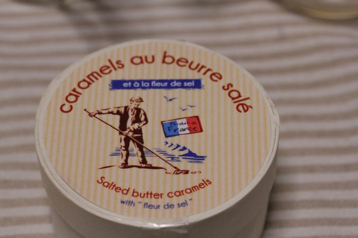 A container of Societe France caramels au beurre sale