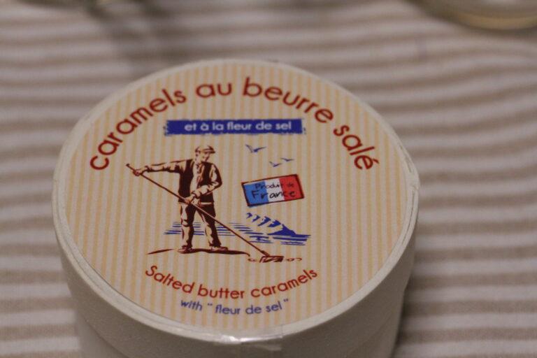 A container of Societe France caramels au beurre sale