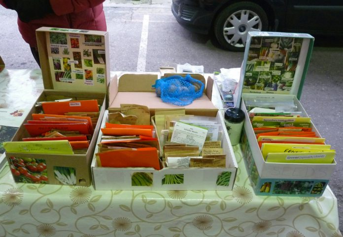 RFGN seed swap at the Reading Farmers' Market. 17th March 2018