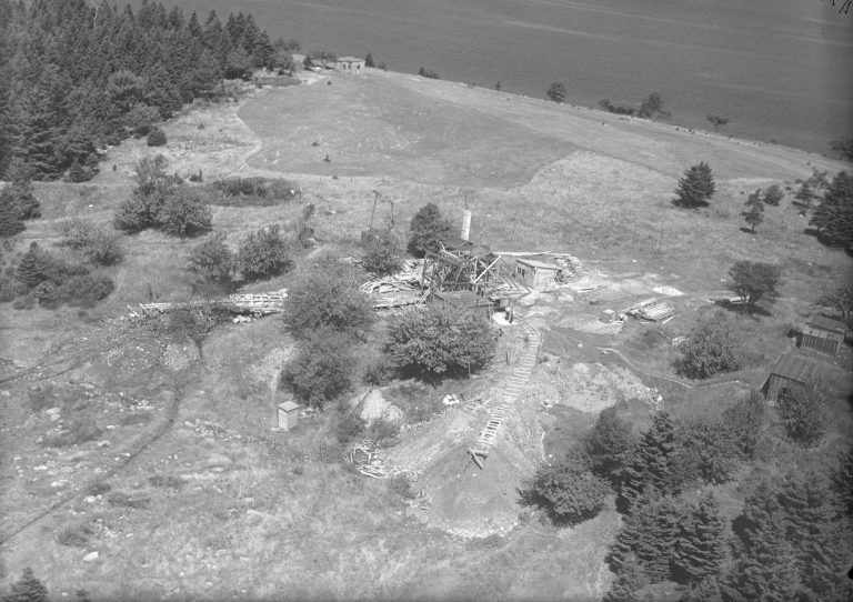 Digs and Buildings, Oak Island, Nova Scotia, Canada, August 1931
