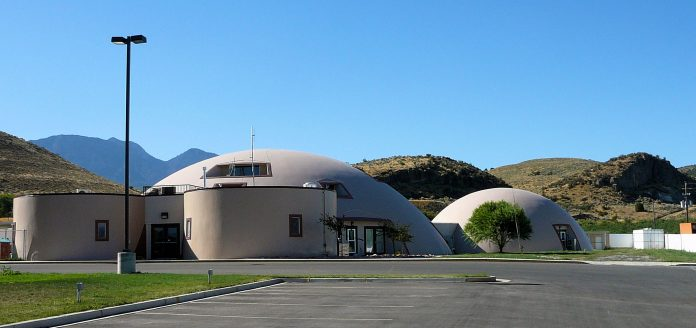 A dome structure in Genola,_Utah