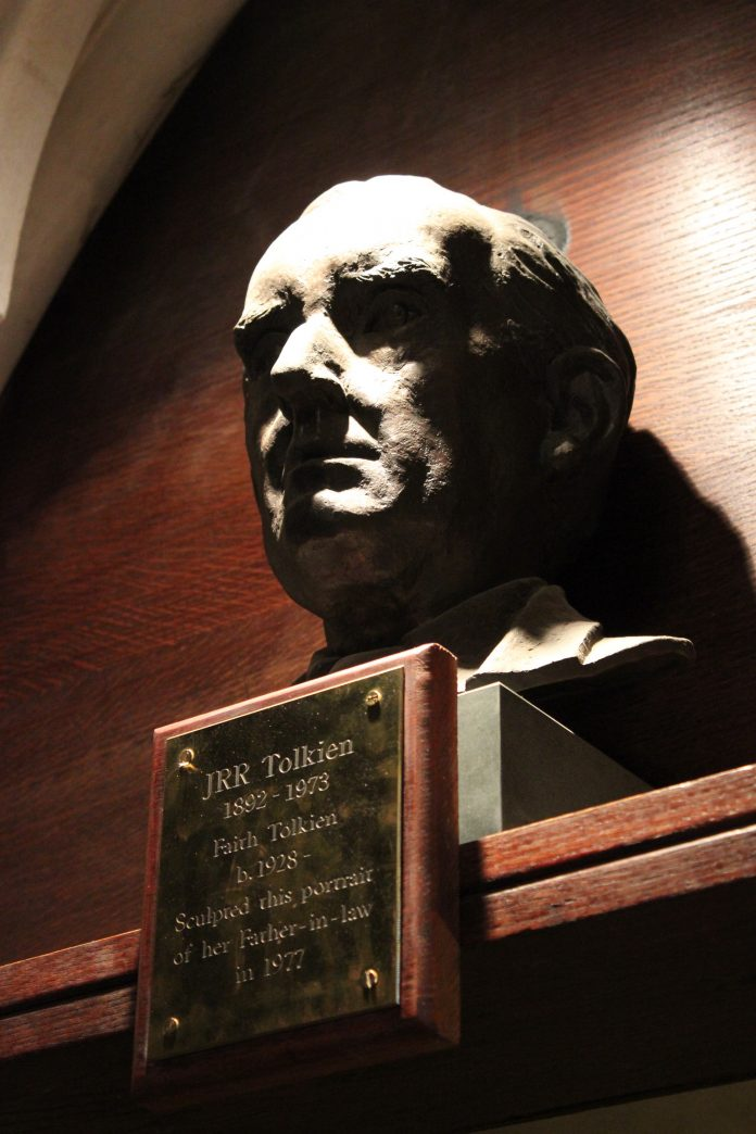 Bust of J.R.R. Tolkien at Oxford University