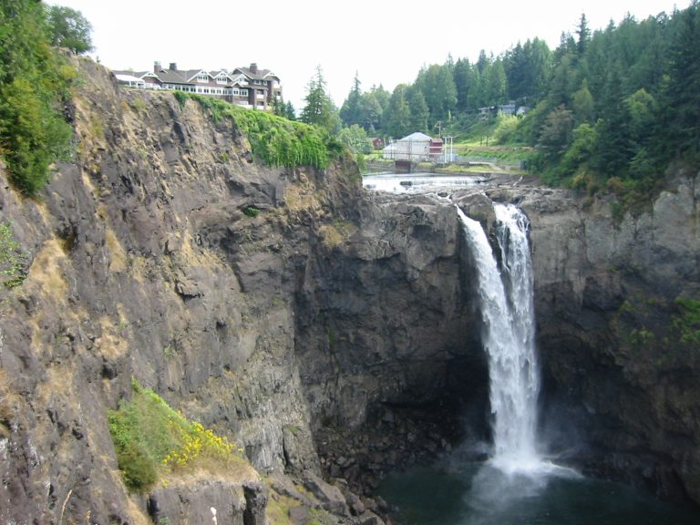 Salish Lodge (a.k.a. The Great Northern Hotel), overlooking Snoqualmie Falls