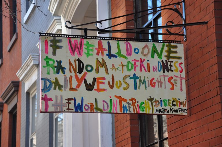 Random acts of kindness sign